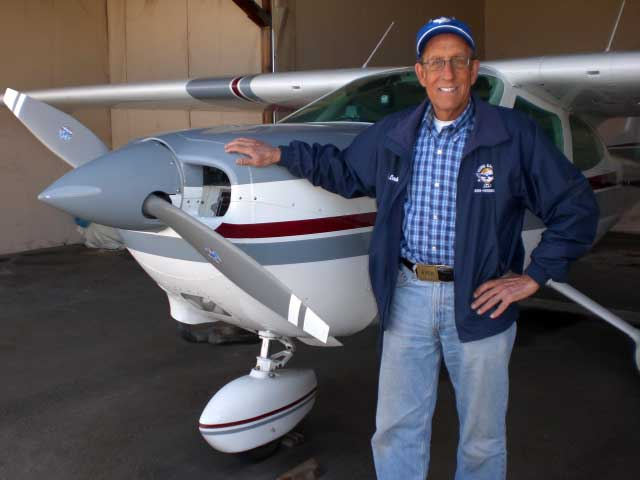 Bob and his Cessna Cardinal, April 14, 2008