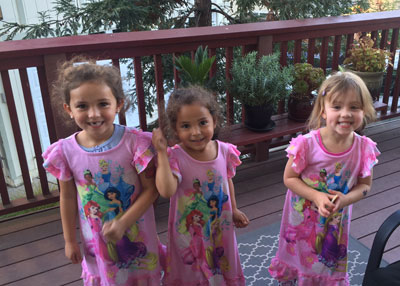 Olive (age 5), Penelope (4), Alexis (3-½)